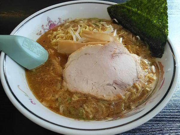 「ニンニク新味 (麺大盛り)」@ハルピンラーメン 下諏訪町役場前店の写真