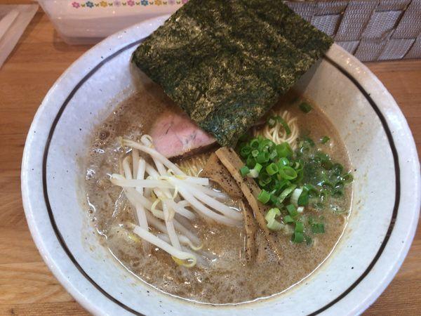「塩とんこつ餃子ランチセット800円 小ライス100円」@麺屋 万年青の写真