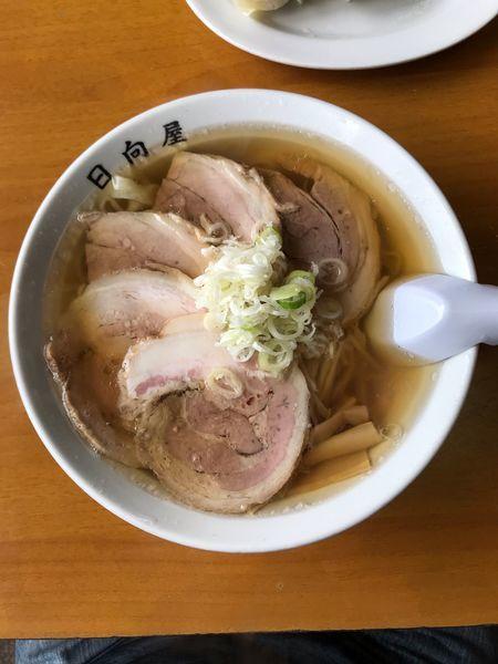 「チャーシューメン 850円」@青竹手打ちラーメン 日向屋の写真