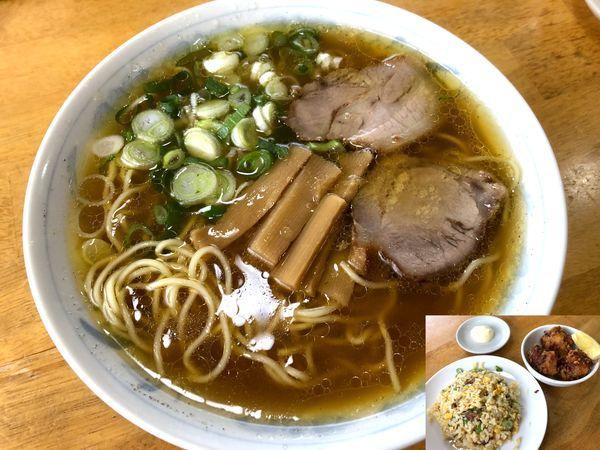 「定食④(1,150円)中華そば・からあげ・やきめし小」@中華そば まるせいの写真