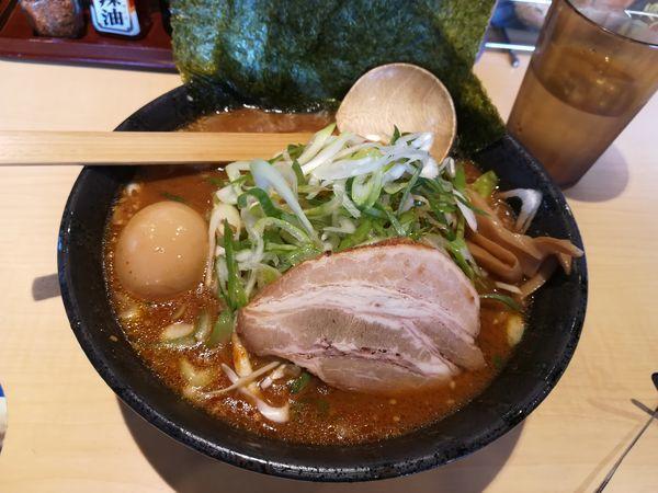 「9/24 赤味噌伝丸ラーメン麺大盛り850円」@伝丸 踊場店の写真