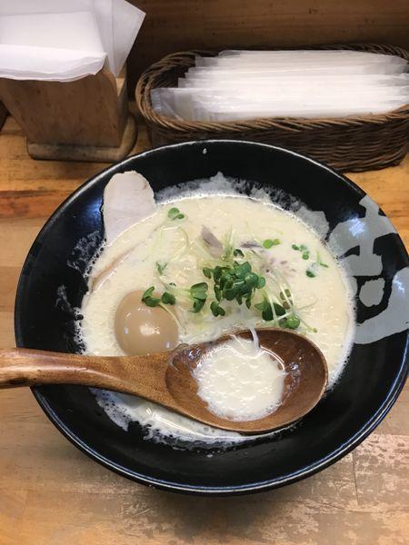 「鶏白湯 トッピング煮玉子」@ぼっこ志の写真