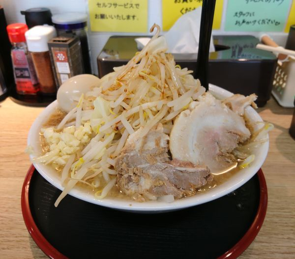 「富味ラーメン並 味玉 ニンニク」@麺屋 富味の写真