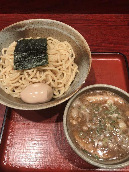 「渓つけ麺+味玉」@食処 渓の写真