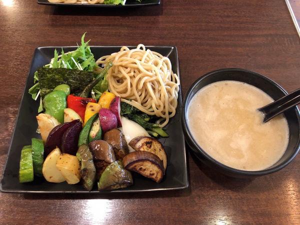 「野菜塩つけ麺(半麺100g)1400円」@caminoの写真