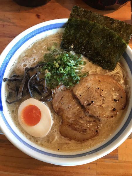 「九州豚骨らーめん+替玉(¥700+¥100)」@麺屋 大谷の写真