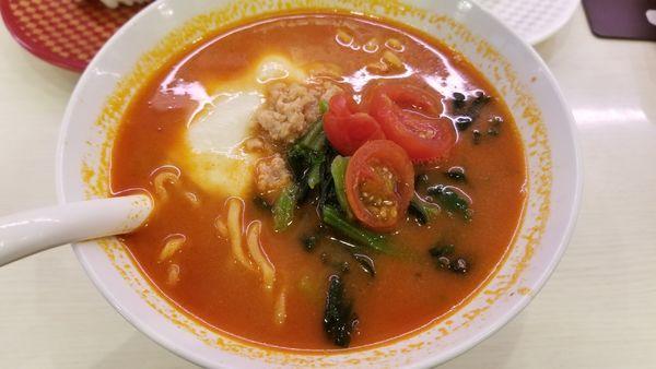 「こだわりトマトチーズ味噌ラーメン」@魚べい 並柳店の写真