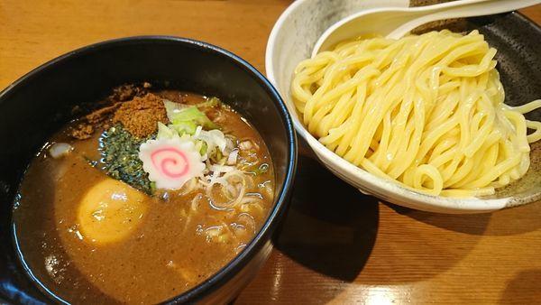 「濃厚つけ麺+味玉(970円)」@つけめん小半の写真