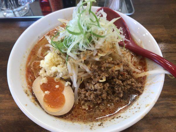 「辛みそ坦々中盛、野菜 950円」@ラーメン岩佐 2号店の写真