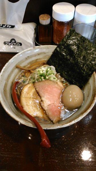 「煮干しそば(醤油) 780円 ラーパス特典 味玉」@麺屋 照の坊の写真