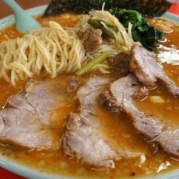 「七味お酢ラーメン+3辛+ネギ+チャーシュー」@ラーメンショップ 結城東店の写真