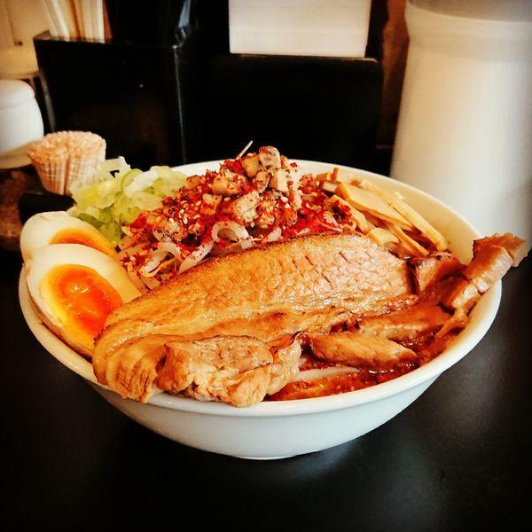 「辛スタミナ豚骨ラーメン」@上州濃厚中華蕎麦 はたお商店 下小出本店の写真
