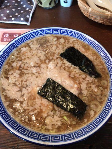 「三種の煮干しそば大盛り 920円」@マル寛そばやの写真