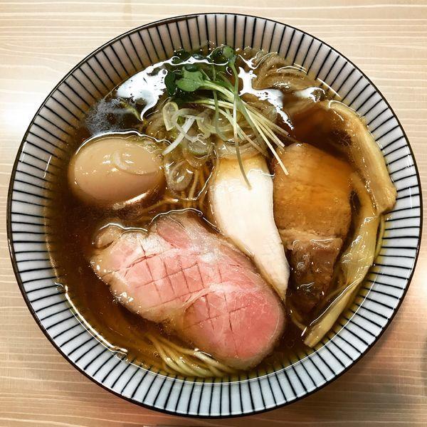 「特製香味中華そば」@麺屋 鶯 uguisuの写真