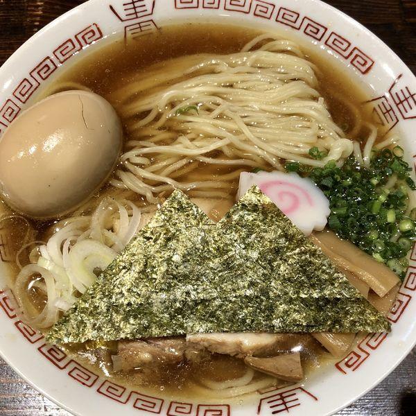 「【限定】あっさりしょうゆらぁめん+味玉」@麺や 蒼 AOIの写真