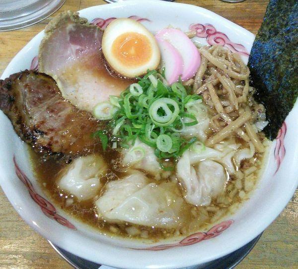 「【限定】流星グッドオールドワンタン麺 1300円」@流星軒の写真