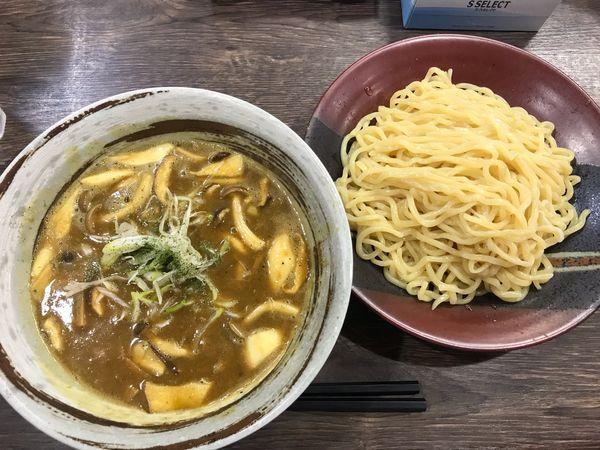 「きのこと豆のベジポタカレーつけ麺 900円」@まるのの写真