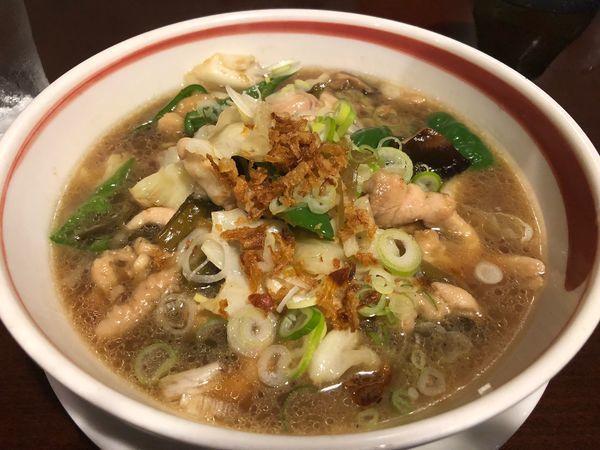 「鶏鶏高菜麺」@紅豚の写真