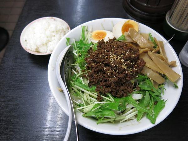 「汁なし担々麺(麺普通盛・ライス):1000円」@二代目めん家 味味の写真