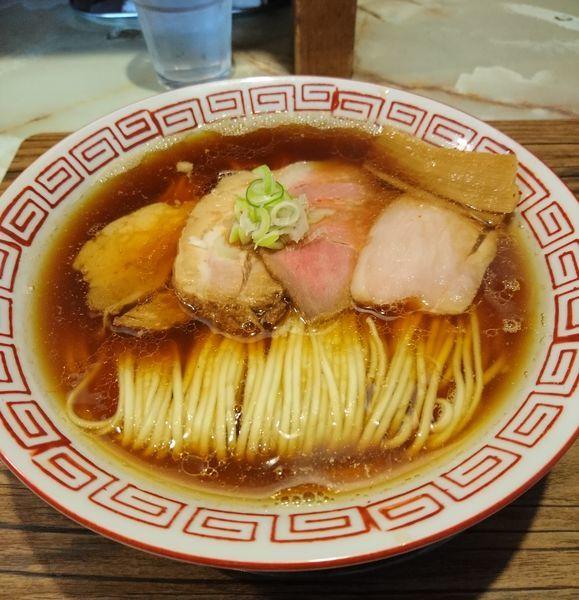 「中華そば 特選黒醤油」@あってりめんこうじ 安中原市店の写真