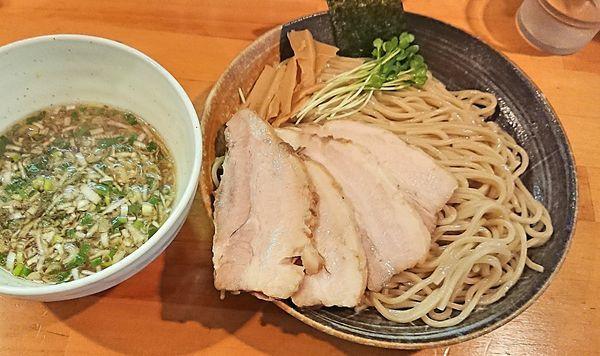 「塩つけ麺&チャーシュー3枚増し」@麺屋 くおんの写真