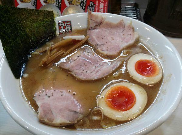 「特製煮干しらーめん大盛り」@煮干しらーめん 玉五郎 阪急三番街店の写真