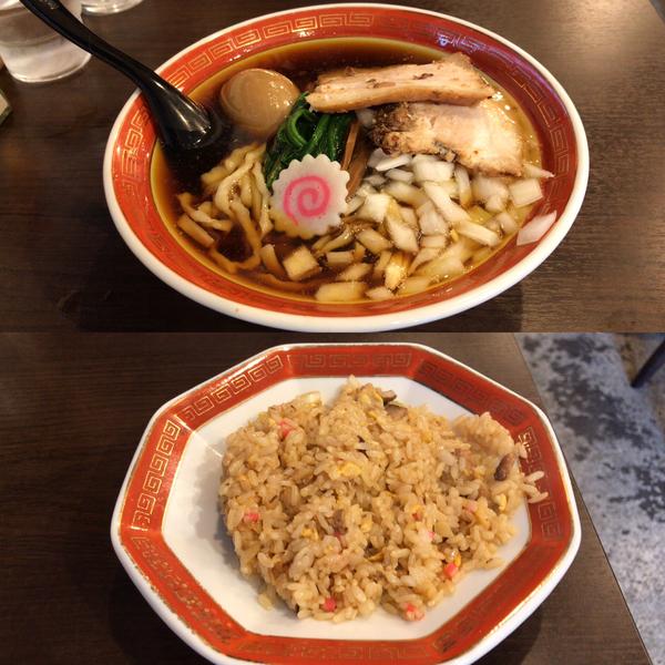 「煮干味玉ラーメン¥890、半炒飯¥300」@拉麺アイオイの写真
