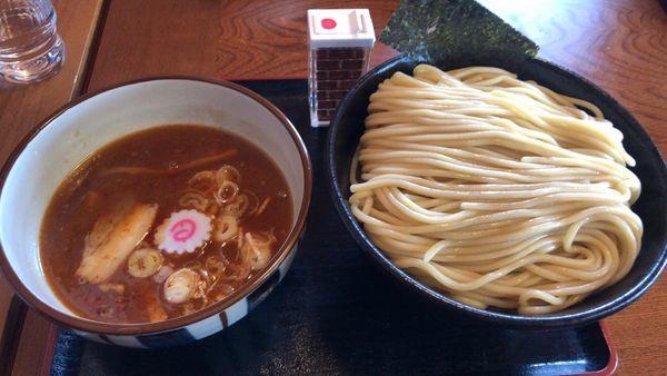 「濃厚豚骨魚介つけ麺辛い 大盛」@麺処 くろ川の写真