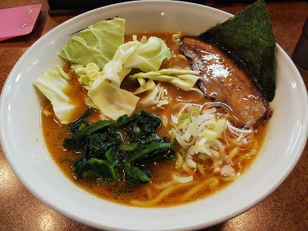「味噌豚骨ラーメン (大盛り)」@麵屋 しるしの写真