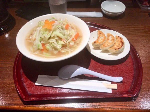 「タンメンセット」@餃子とタンメン 天の写真
