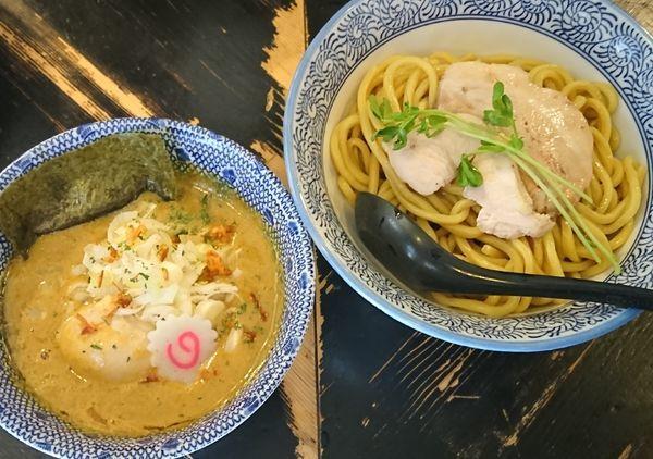 「【限定】鶏とかぼちゃのベジポタつけ麺 ¥1100」@狼煙 〜NOROSHI〜の写真