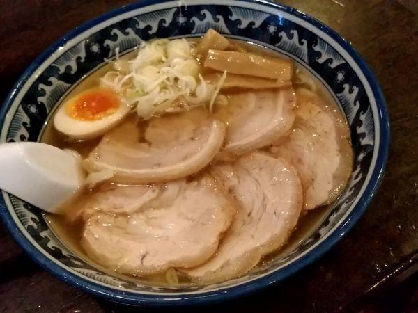 「チャーシューめん(並盛・190g)950円→850円」@手打ちらーめん 麺之介の写真
