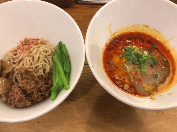 「つけ担々麺・普通盛大辛900円」@担々麺 ほおずきの写真