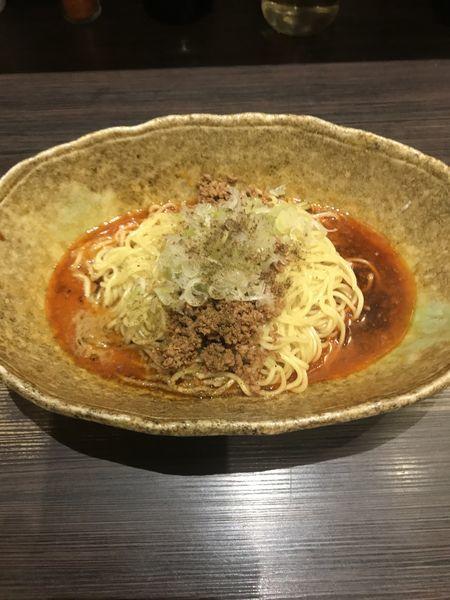 「汁なし坦々麺(辛さ×2)」@中華そば くにまつ 本店の写真