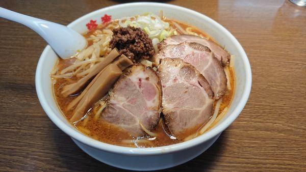 「みそちゃーしゅー麺940円+他」@珍來 石岡店の写真