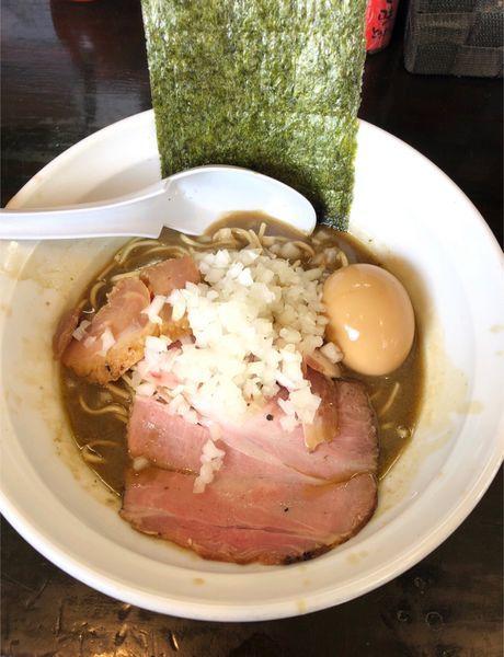 「煮干濃麺HV(味玉)」@濃麺 海月の写真