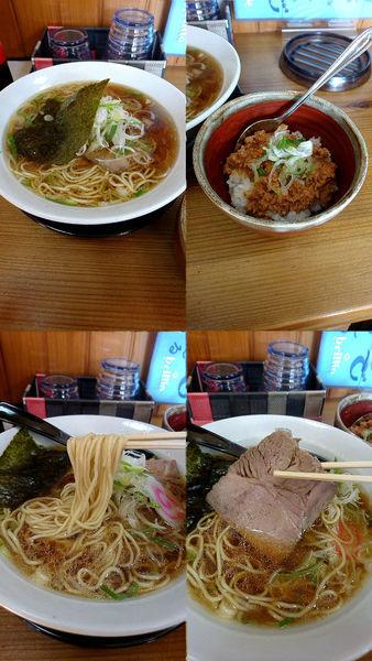 「『支那そば(醤油)+そぼ丼(¥690+300)』」@支那そば 蔵之宮の写真