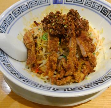 「四川産青山椒の汁なし担々麺 排骨」@希須林 赤坂店の写真