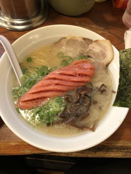 「博多明太子ラーメン」@九一麺 つきみ野店の写真
