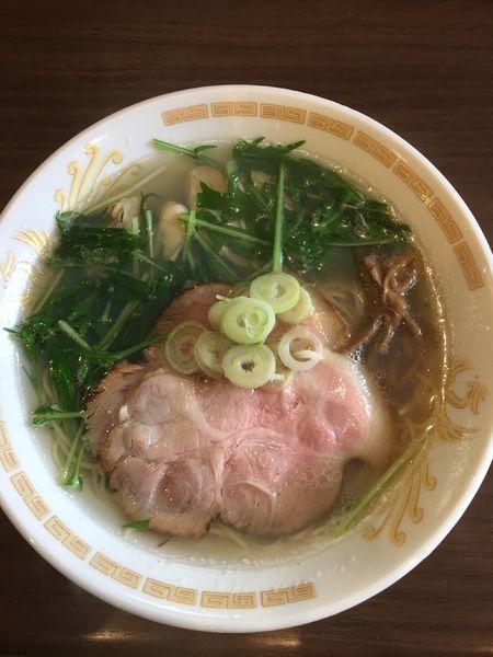 「牡蠣入り塩らーめん ¥1100円」@岡ほしの写真