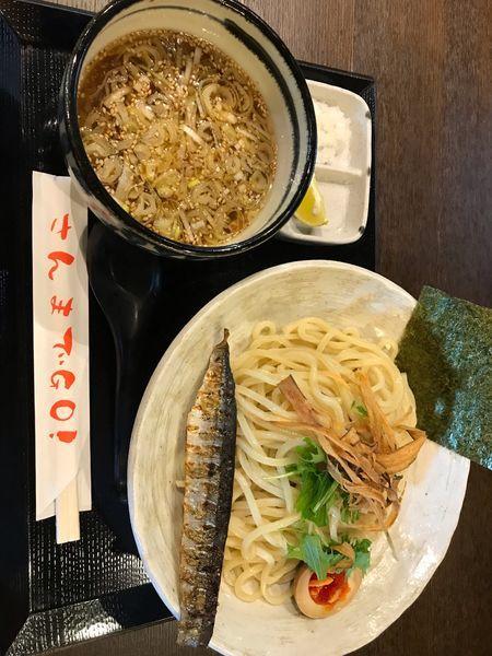 「さんまつけ麺(淡)大盛無料@800」@さんまでGO!の写真