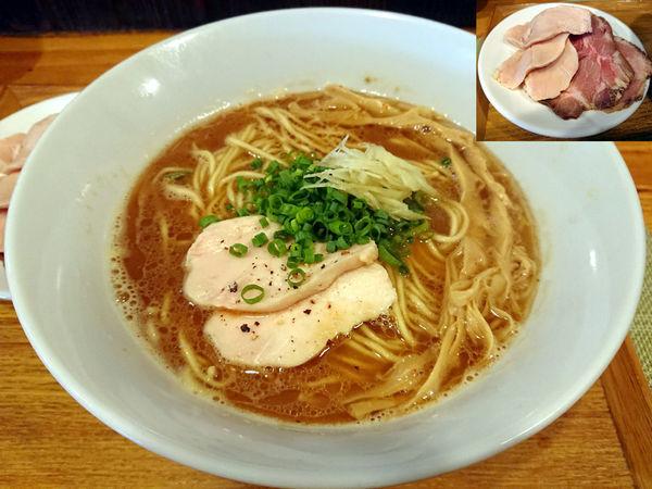 「生姜鶏そば+チャーシュー」@中華蕎麦 はざまの写真