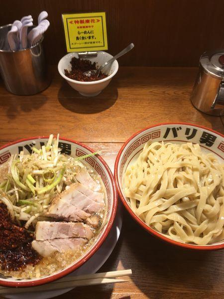 「つけ麺 (ネギ)」@らーめんバリ男 大門店の写真