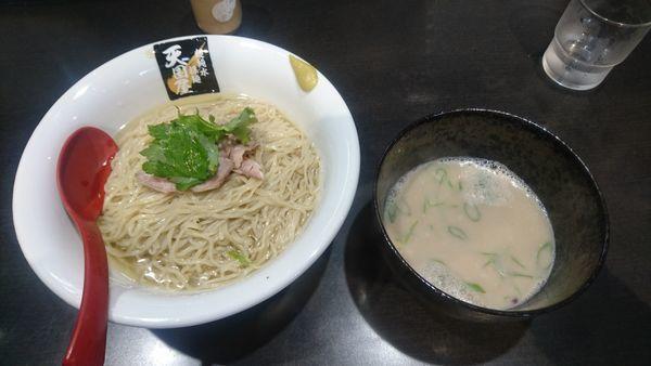 「【限定】金目鯛と真鯛の豚頭つけ麺 ¥1000-」@超純水採麺 天国屋の写真