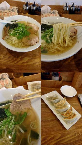 「潮風らーめん(塩&手打ち麺選択)+餃子(¥680+380)」@らーめん榎穏の写真