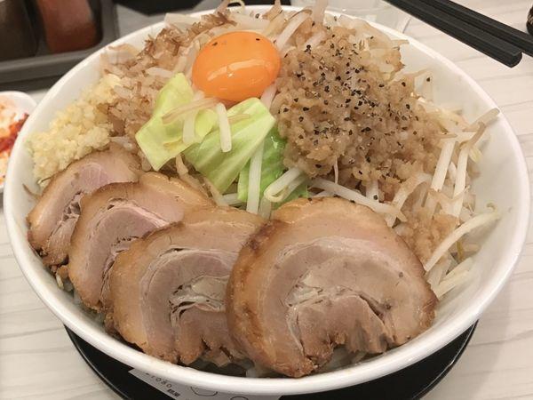 「肉増しMAZEそば」@麺屋ガテン 本町淀屋橋店の写真
