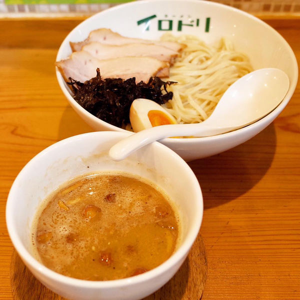 「なめこ味噌つけ麺…880円」@ラーメン イロドリの写真