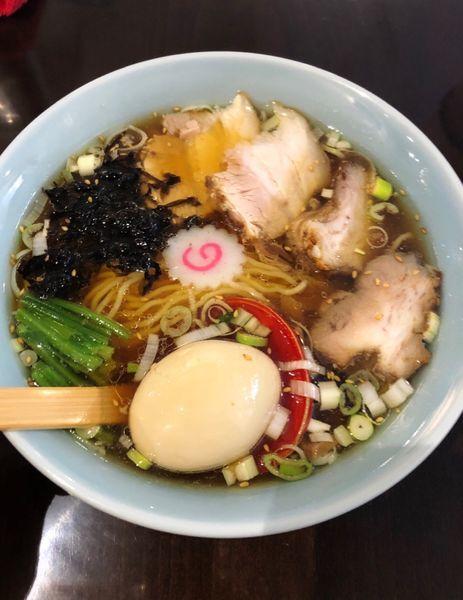 「らぁめん(味玉)」@新潟長岡らぁめん 安ざわ食堂の写真