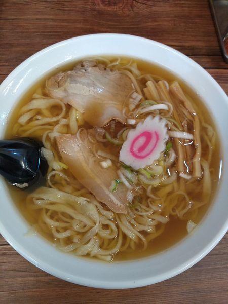 「ラーメン 600円 手作り餃子(三個) 280円」@麺屋まさと 佐野支店の写真