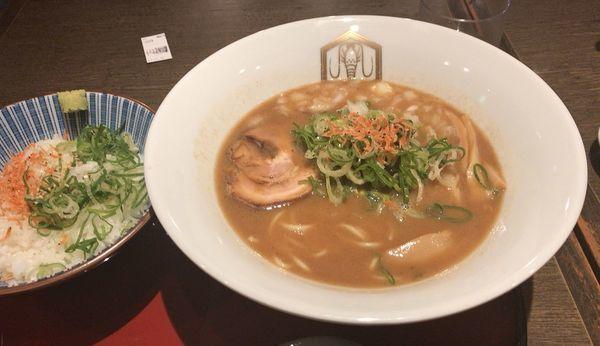 「濃厚海老そば〆の海老めしセット(980円)」@えびそば えび助 TOKYOの写真